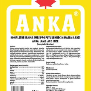 ANKA Lamb and Rice - 10kg