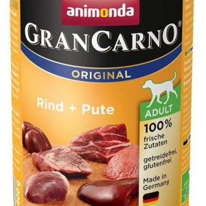 Animonda dog konzerva Gran Carno Hovězí + Krůta - 6x 800g