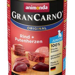 Animonda dog konzerva Gran Carno Junior hovězí/krůtí srdce - 800g