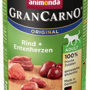 Animonda dog konzerva Gran Carno hovězí / kachní srdce - 6x 400g