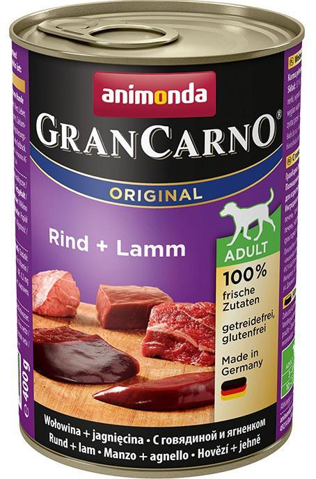 Animonda dog konzerva Gran Carno hovězí/jehně - 6x 400g