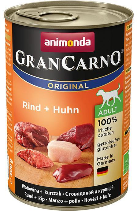 Animonda dog konzerva Gran Carno hovězí/kuře - 6x 400g