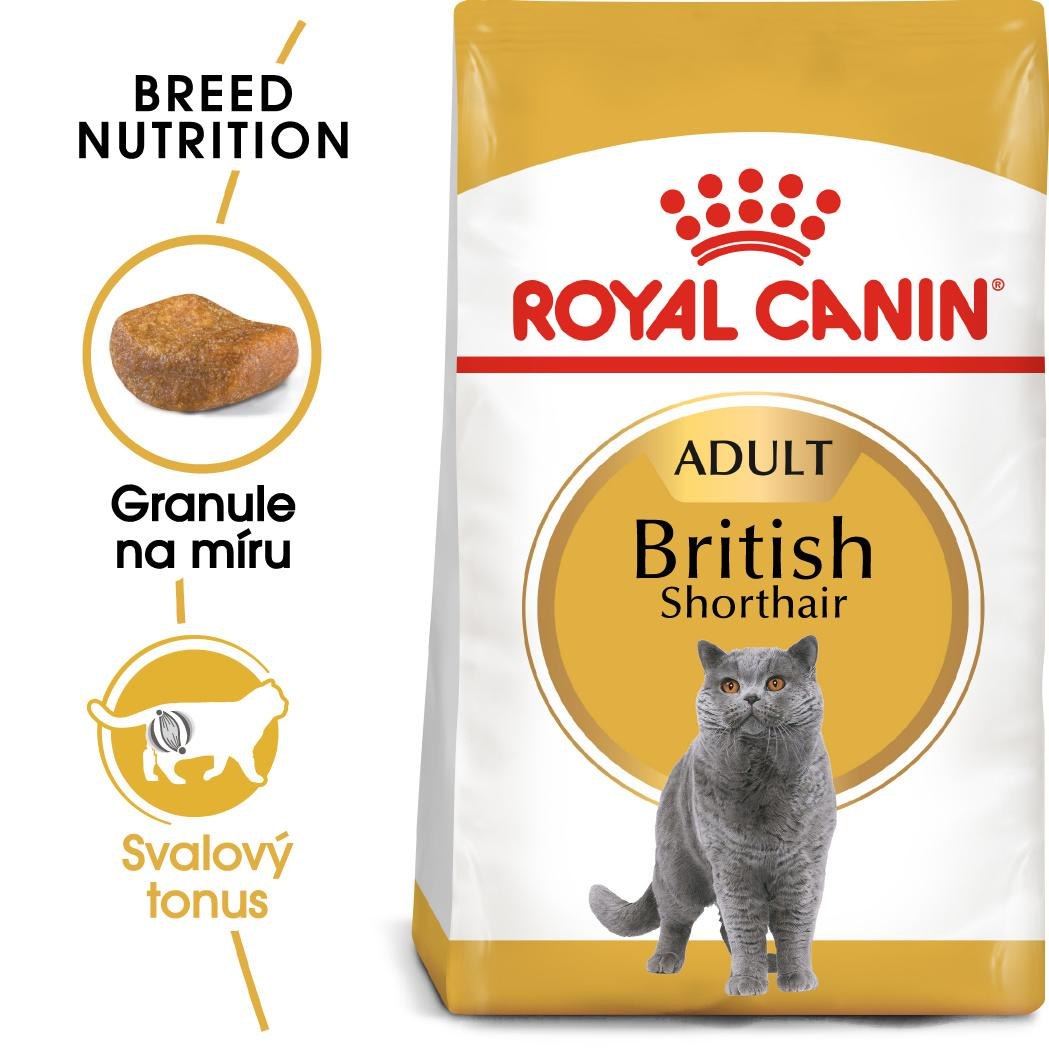 Royal Canin British Shorthair Adult - granule pro britské krátkosrsté kočky - 10kg