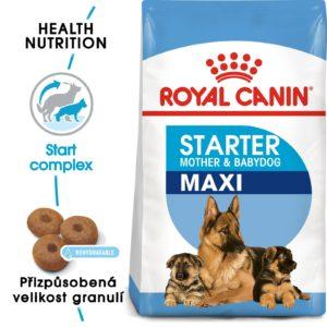 Royal Canin MAXI STARTER - granule pro březí nebo kojící feny a štěňata - 4kg