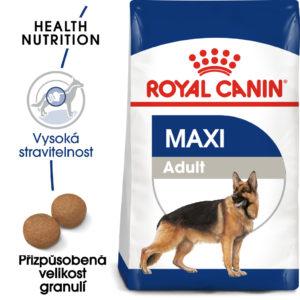 Royal Canin Maxi Adult - granule pro dospělé velké psy - 15kg + 3kg GRATIS