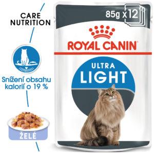 Royal Canin ULTRA LIGHT - kapsička pro kočky s nadváhou v želé - 85g