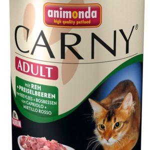 ANIMONDA cat konzerva CARNY jelen/brusinky  - 400g