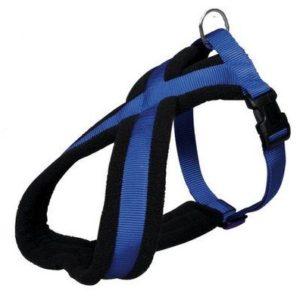 Postroj (trixie) PREMIUM podšitý modrý - 2