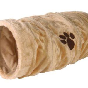 Tunel pro kočky Plyšový/Šustící 22cm/60cm - antracitový