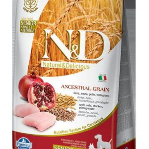 N&D dog LG SENIOR CHICKEN / POMEGRANATE - 12kg (medium/large)