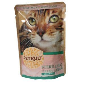 PETKULT cat kapsa STERILISED králík - 100g (8 + 2 gratis)