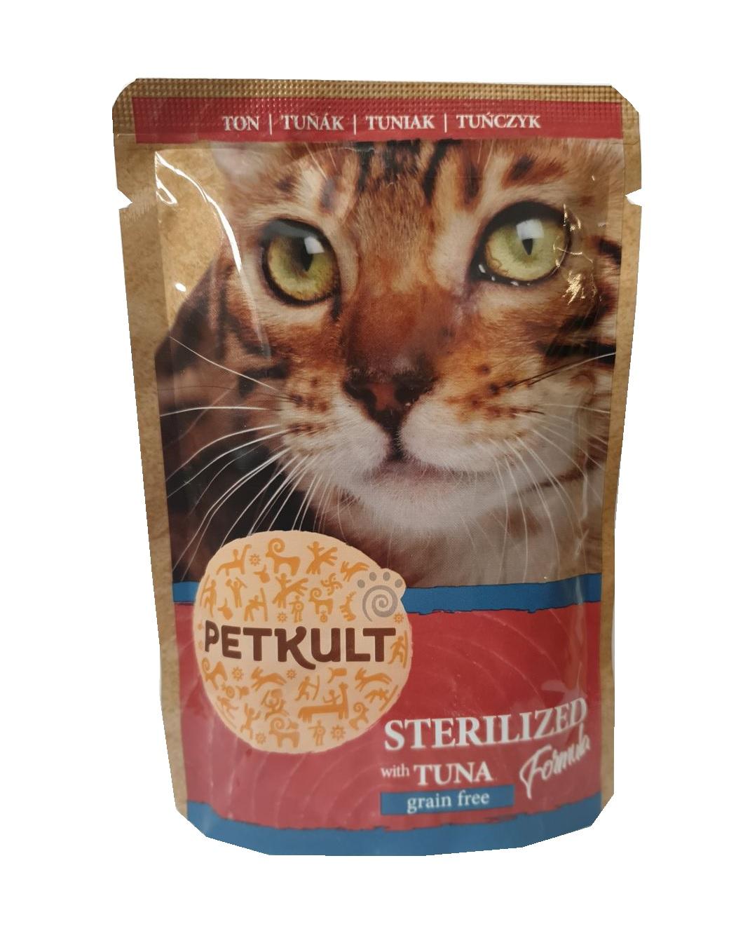 PETKULT cat kapsa STERILISED tuňák - 100g