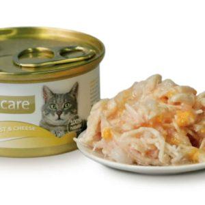 BRIT CARE cat konzerva CHICKEN BREAST/CHEESE - 80g