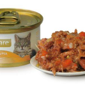 BRIT CARE cat konzerva TUNA/CARROT/PEA - 80g