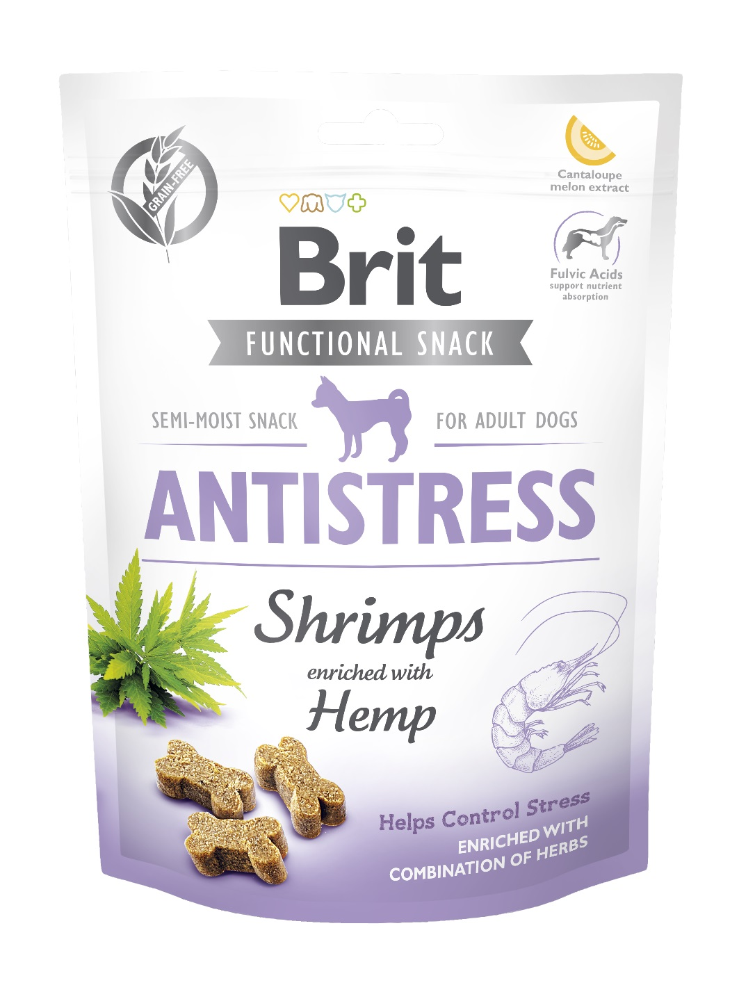 BRIT snack ANTISTRESS shrimps/hemp - 150g