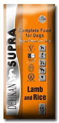 DELIKAN dog SUPRA LAMB & RICE - 2x15kg