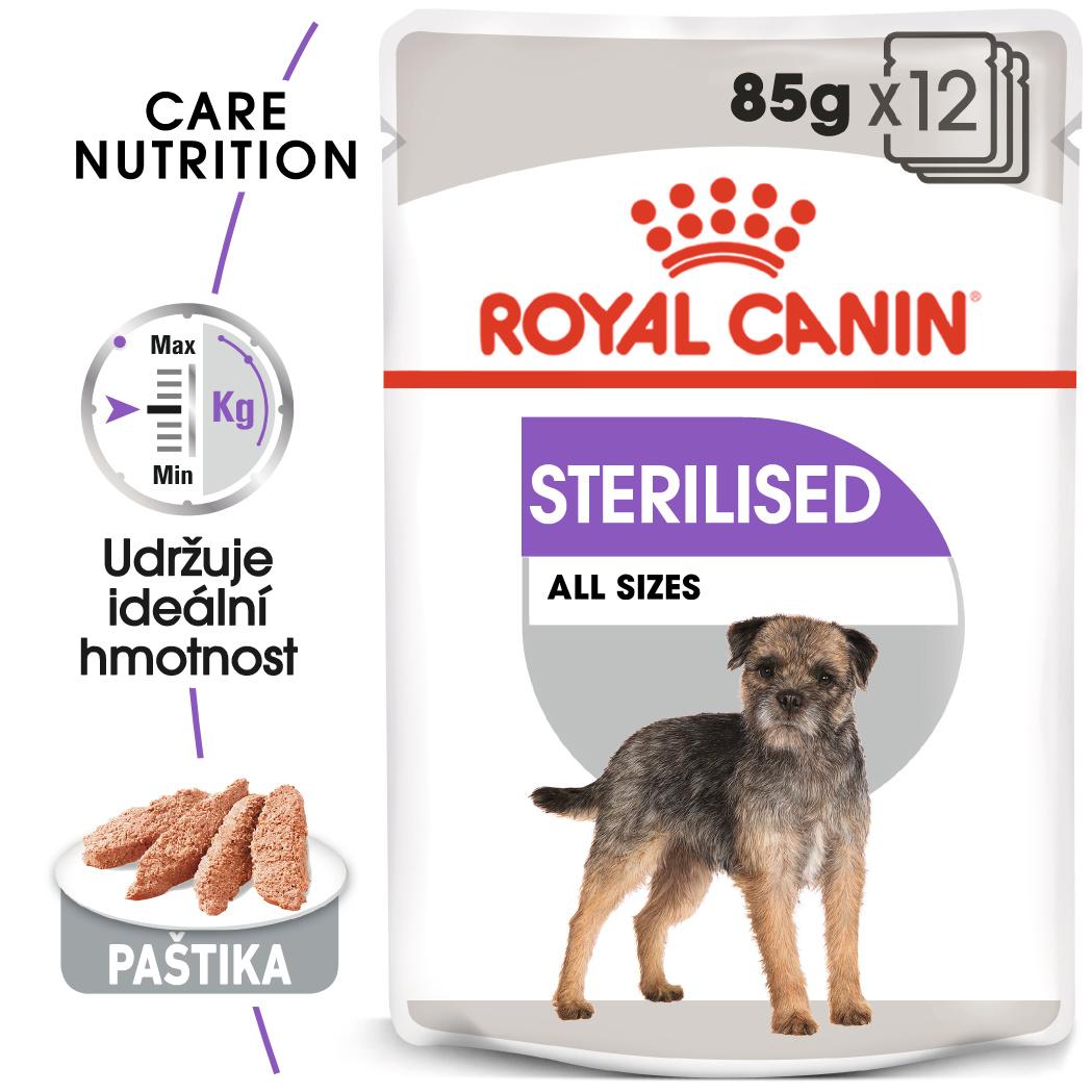 Royal Canin Sterilised Dog Loaf - kapsička s paštikou pro kastrované psy - 12x85g
