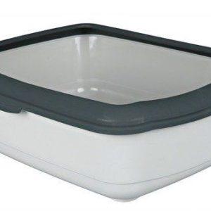 WC CLASSIC (s okrajem) 37x15x47 cm - Tmavě šedá / světle šedá
