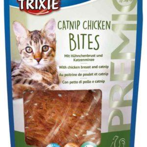 Premio CATNIP CHICKEN BITES kuřecí kousky s catnipem - 50g