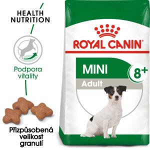 Royal Canin Mini Adult 8+ - granule pro stárnoucí malé psy - 8kg
