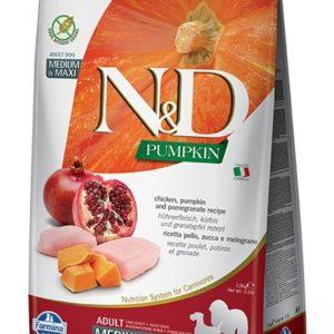 N&D dog GF PUMPKIN ADULT MEDIUM/MAXI chicken/pomegranate - 12kg