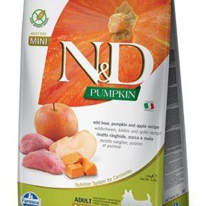 N&D dog GF PUMPKIN ADULT MINI boar/apple - 7kg