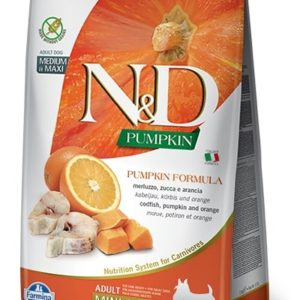 N&D dog GF PUMPKIN ADULT MINI codfish/orange - 7kg
