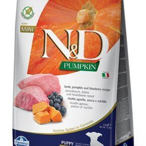 N&D dog GF PUMPKIN PUPPY MINI lamb/blueberry - 7kg