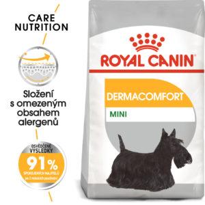 Royal Canin Mini Dermacomfort - granule pro malé psy s problémy s kůží - 8kg