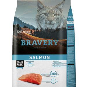 BRAVERY cat  ADULT salmon - 2 x 7kg