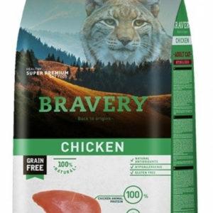 BRAVERY cat STERELIZED chicken - 2 x 7kg