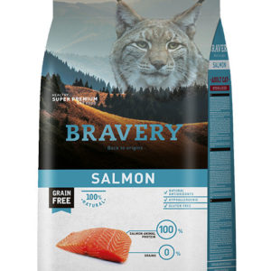 BRAVERY cat STERELIZED salmon - 2 x 7kg