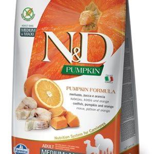 N&D dog GF PUMPKIN ADULT M/L codfish/orange - 12kg