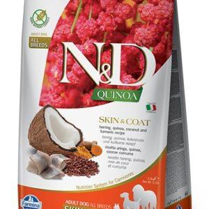 N&D dog GF QUINOA skin/coat HERRING/COCONUT - 7kg