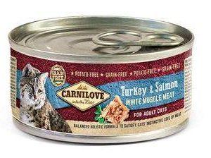 CARNILOVE cat konz. ADULT TURKEY/salmon - 100g