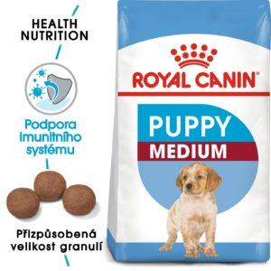Royal Canin MEDIUM PUPPY - granule pro střední štěňata - 4kg