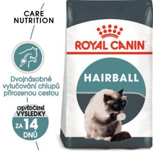 Royal Canin cat Hairball Care - granule pro kočky pro správné vylučování - 2kg