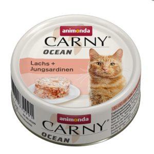 ANIMONDA cat konzerva CARNY OCEAN losos/sardinky - 80g