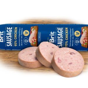 BRIT dog sausage CHICKEN/rice - 800g