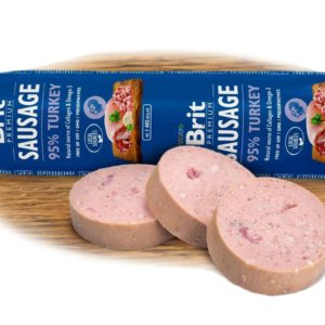 BRIT dog  sausage TURKEY/rice - 800g
