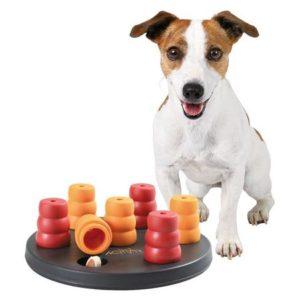 HRAČKA Dog Activity - MINI SOLITAIRE Deska s kužely  - 20cm