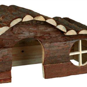 HRAČKA  hlodavci DŮM dřevěný HANNA morče - 31x19x19cm