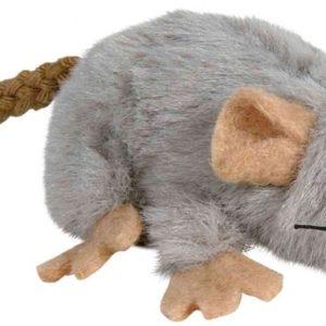 HRAČKA plyšová MYŠKA šedá s catnipem - 7cm