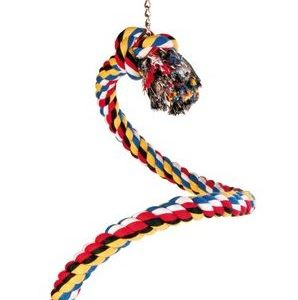 HRAČKA pták Houpačka bavlněné lano spirála - 50cm