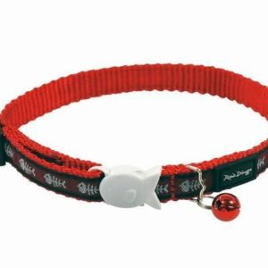 Obojek RD  cat Fishbone Red - 1
