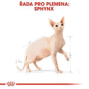 Royal Canin Sphynx Adult - granule pro sphynx kočky - 10kg