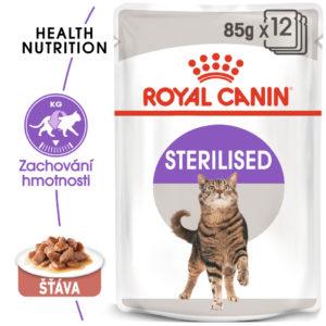 Royal Canin Sterilised Gravy - kapsička pro kastrované kočky ve šťávě - 85g