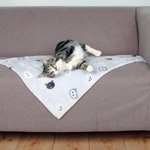 Deka MIMI   šedá/kočičí hlavy - 70x50cm