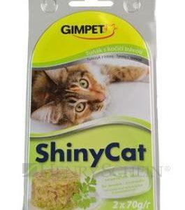 GIMPET SHINYcat TUŇÁK / kočičí tráva - 2x70g