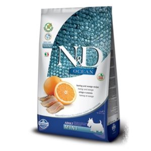 N&D  dog GF OCEAN  ADULT  MINI herring/orange - 7kg